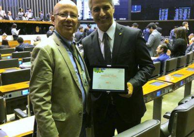 Francisco Camargo e o deputado federal Alessandro Molon (PSB-RJ)