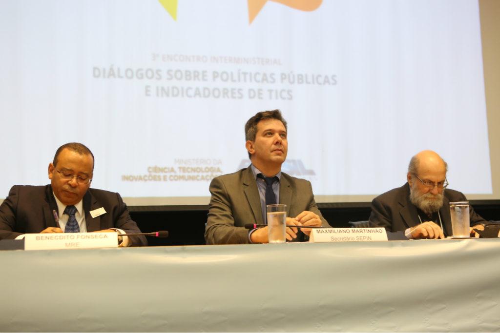 O secretário de Política de Informática, Maximiliano Martinhão, participou do 3º Encontro Interministerial Diálogos sobre Políticas Públicas e Indicadores de Tecnologias da Informação e Comunicação (TICs). Crédito: Ascom/MCTIC