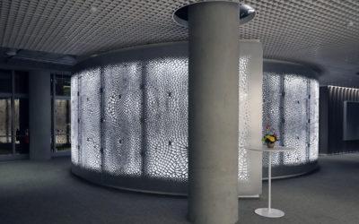 Big Data transformada em arquitetura em uma parede para IBM