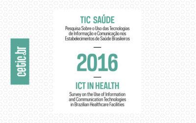 TIC Saúde 2016 aponta desafios para universalização do acesso à Internet nos estabelecimentos públicos de saúde