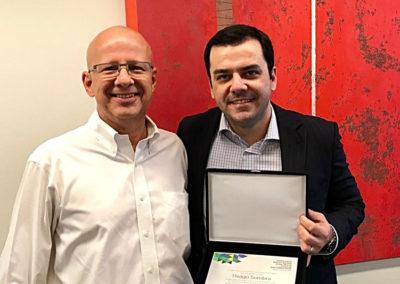 Francisco Camargo, presidente da ABES, e Thiago Sombra, advogado e especialista em Transformação Digital e Fluxo de Dados