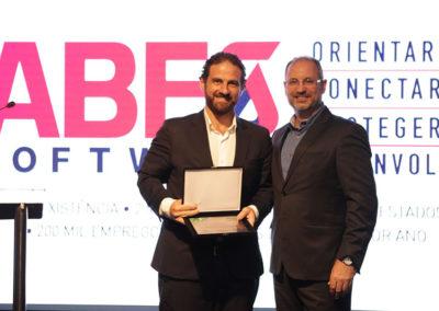 Gérson Schmitt, empresário e membro do conselho da ABES, e Caio Megale, Secretário de Fazenda da Prefeitura de São Paulo