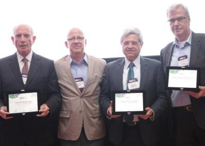 José Miranda Dias, ex-presidente executivo da ABES; Sergio Paulo Gallindo, presidente da BRASSCOM; Carlos Sacco empresário e um dos sócio-fundadores da ABES