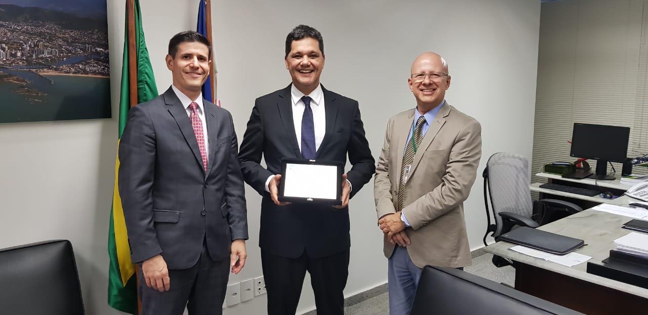 Andrei Gutierrez, Ricardo Ferraço e Francisco Camargo