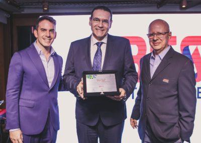 Fabio Rua, cofundador do Movimento Brasil, País Digital; Vitor Lippi, deputado federal, e Francisco Camargo, presidente da ABES