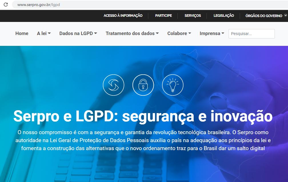Serpro lança portal LGPD para ajudar o país a proteger os dados do cidadão